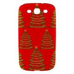 Christmas trees red pattern Samsung Galaxy S III Hardshell Case