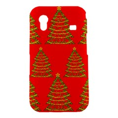 Christmas trees red pattern Samsung Galaxy Ace S5830 Hardshell Case