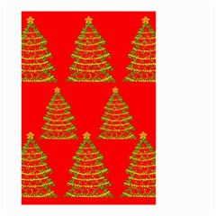 Christmas trees red pattern Small Garden Flag (Two Sides)