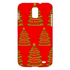 Christmas trees red pattern Samsung Galaxy S II Skyrocket Hardshell Case