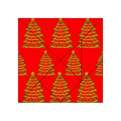 Christmas trees red pattern Acrylic Tangram Puzzle (4  x 4 )