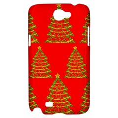 Christmas trees red pattern Samsung Galaxy Note 2 Hardshell Case