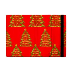 Christmas trees red pattern Apple iPad Mini Flip Case