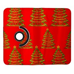 Christmas trees red pattern Samsung Galaxy Note II Flip 360 Case