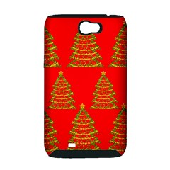 Christmas trees red pattern Samsung Galaxy Note 2 Hardshell Case (PC+Silicone)