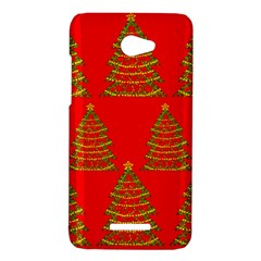 Christmas trees red pattern HTC Butterfly X920E Hardshell Case