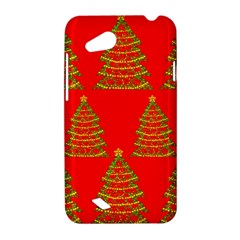 Christmas trees red pattern HTC Desire VC (T328D) Hardshell Case