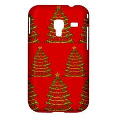 Christmas trees red pattern Samsung Galaxy Ace Plus S7500 Hardshell Case