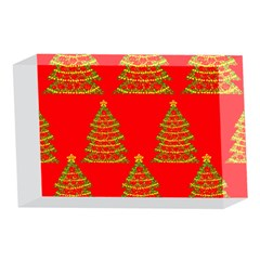 Christmas trees red pattern 4 x 6  Acrylic Photo Blocks