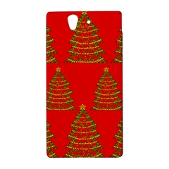 Christmas trees red pattern Sony Xperia Z