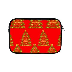 Christmas trees red pattern Apple iPad Mini Zipper Cases