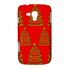 Christmas trees red pattern Samsung Galaxy Duos I8262 Hardshell Case