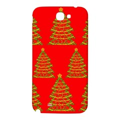 Christmas trees red pattern Samsung Note 2 N7100 Hardshell Back Case