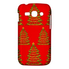 Christmas trees red pattern Samsung Galaxy Ace 3 S7272 Hardshell Case