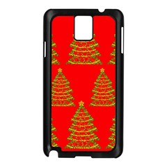 Christmas trees red pattern Samsung Galaxy Note 3 N9005 Case (Black)