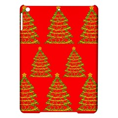 Christmas trees red pattern iPad Air Hardshell Cases