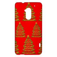 Christmas trees red pattern HTC One Max (T6) Hardshell Case