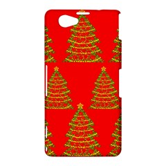 Christmas trees red pattern Sony Xperia Z1 Compact