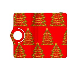 Christmas trees red pattern Kindle Fire HDX 8.9  Flip 360 Case