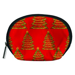 Christmas trees red pattern Accessory Pouches (Medium)