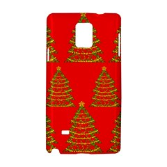 Christmas trees red pattern Samsung Galaxy Note 4 Hardshell Case