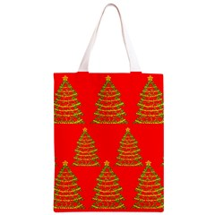 Christmas trees red pattern Classic Light Tote Bag