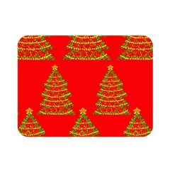 Christmas trees red pattern Double Sided Flano Blanket (Mini)