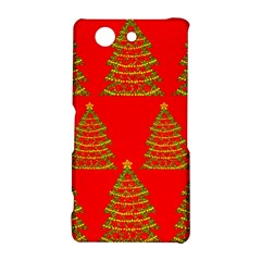 Christmas trees red pattern Sony Xperia Z3 Compact