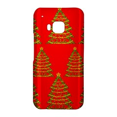Christmas trees red pattern HTC One M9 Hardshell Case