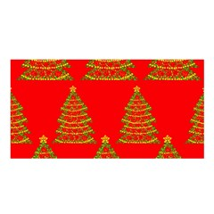 Christmas trees red pattern Satin Shawl