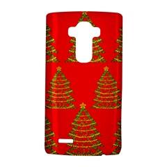 Christmas trees red pattern LG G4 Hardshell Case