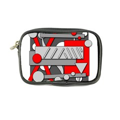 Gray and red geometrical design Coin Purse