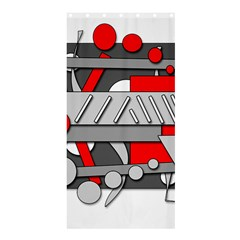 Gray and red geometrical design Shower Curtain 36  x 72  (Stall)