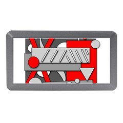 Gray and red geometrical design Memory Card Reader (Mini)
