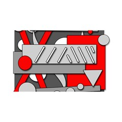 Gray and red geometrical design YOU ARE INVITED 3D Greeting Card (8x4)