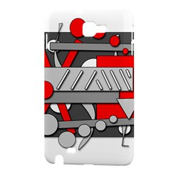 Gray and red geometrical design Samsung Galaxy Note 1 Hardshell Case