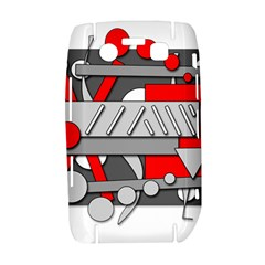 Gray and red geometrical design Bold 9700
