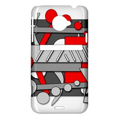 Gray and red geometrical design HTC Evo 4G LTE Hardshell Case