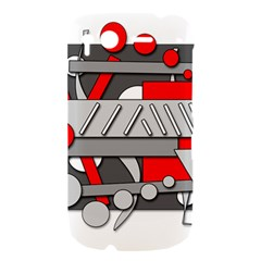 Gray and red geometrical design HTC Desire S Hardshell Case