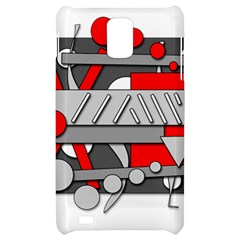 Gray and red geometrical design Samsung Infuse 4G Hardshell Case