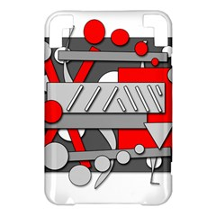 Gray and red geometrical design Kindle 3 Keyboard 3G