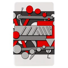 Gray and red geometrical design Kindle Fire (1st Gen) Hardshell Case
