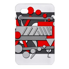 Gray and red geometrical design Samsung Galaxy Tab 7  P1000 Hardshell Case