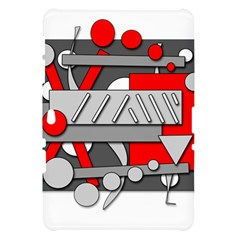 Gray and red geometrical design Samsung Galaxy Tab 10.1  P7500 Hardshell Case