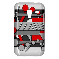 Gray and red geometrical design Samsung Galaxy Ace Plus S7500 Hardshell Case