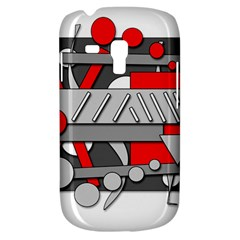 Gray and red geometrical design Samsung Galaxy S3 MINI I8190 Hardshell Case