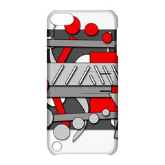 Gray and red geometrical design Apple iPod Touch 5 Hardshell Case with Stand