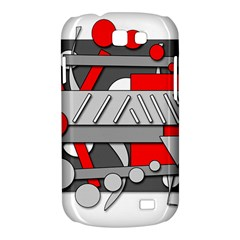 Gray and red geometrical design Samsung Galaxy Express I8730 Hardshell Case