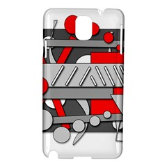 Gray and red geometrical design Samsung Galaxy Note 3 N9005 Hardshell Case