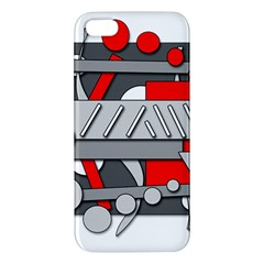 Gray and red geometrical design iPhone 5S/ SE Premium Hardshell Case